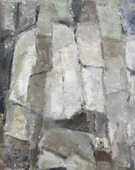 French cubist abstract oil painting with muted colors