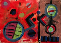 1960's Amazing Colors Abstract Signed Painting