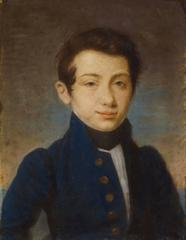 Early 1800's Napoleonic Period Portrait of Young Mid-shipman Pastel