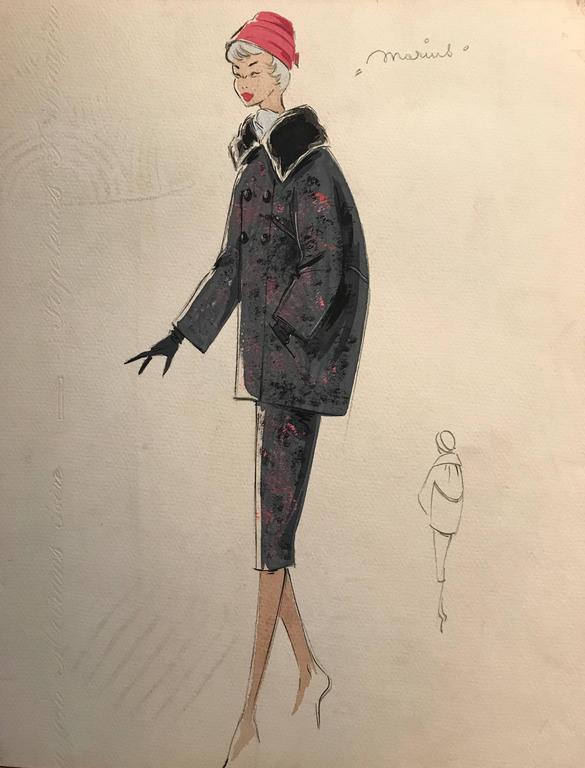 Superb Stylish Vintage Fashion Design Painting Artist Stamped