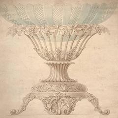 Fine 18th Century French Rococo Drawing Jardiniere Wine Design