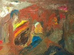 Original British Expressionist Abstract Oil Painting Undiscovered Artist