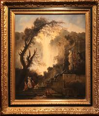 Classical French Oil Painting Figures before Ancient Roman Architecture
