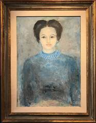 The Duchess of Windsor, Original Oil Painting Portrait of Wallis Simpson