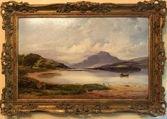 Loch Lomond Large Original Victorian Oil Painting