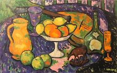 Post-Impressionist Still Life Signed Oil Painting