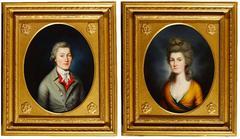 Georgian Pair Oil Paintings Mr. & Mrs Caleb Talbot