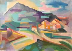 French Fauvist Oil Painting Provencal Landscape with House