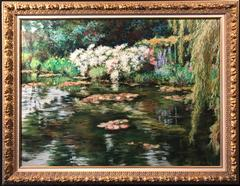 Maria Bell-Salter - Monet's Waterlily Pond at Giverny 'L'ete a Giverny'