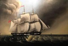 Huge Marine Oil Painting
