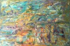 Enormous British Abstract Oil Painting