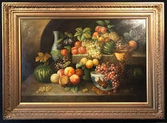 Very Large Ornamental Still Life Painting