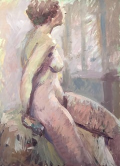 Modern British Abstract Nude Lady