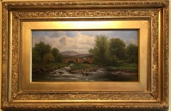 Victorian River Landscape Listed British Artist