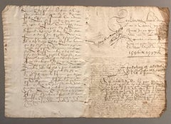 16th Century French Hand Written Document