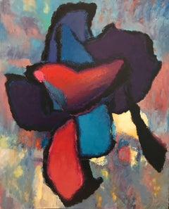 French Expressionist Abstract Oil Painting Strong Colors