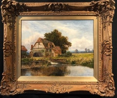 The Old Watermill, signed English oil painting