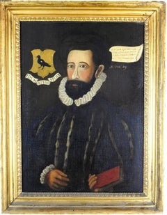 The Tudor Gentleman - Family Portrait with Coat of Arms