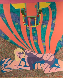 Erotic Psychedelic French Painting Bright Colours
