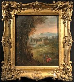 Italianate Classical Landscape Roman Buildings & Figures