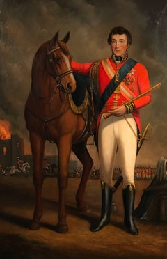 The Duke of Wellington Antique Oil Painting