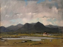 Connemara - Irish Landscape with Cottage Signed Oil Painting on Board