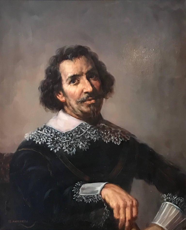 Portrait of a 17th Century Dutch Golden Age Gentleman - Painting by Unknown