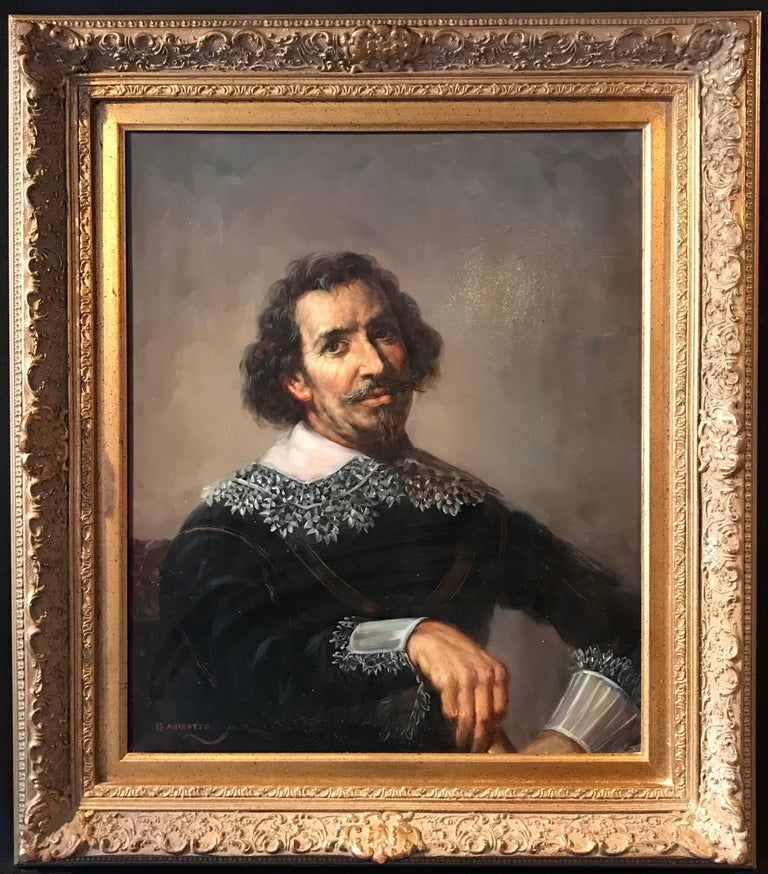Unknown Figurative Painting - Portrait of a 17th Century Dutch Golden Age Gentleman