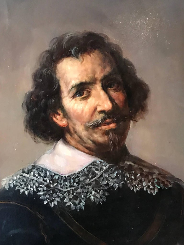 Portrait of a 17th Century Dutch Golden Age Gentleman - Old Masters Painting by Unknown
