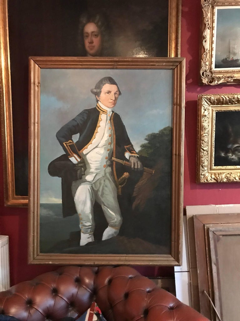 Captain James Cook - Realist Painting by Unknown