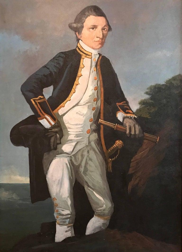 Unknown Portrait Painting - Captain James Cook