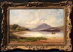 Loch Lomond Scotland, Victorian Oil Painting