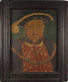 King Henry VIII portrait, oil on canvas