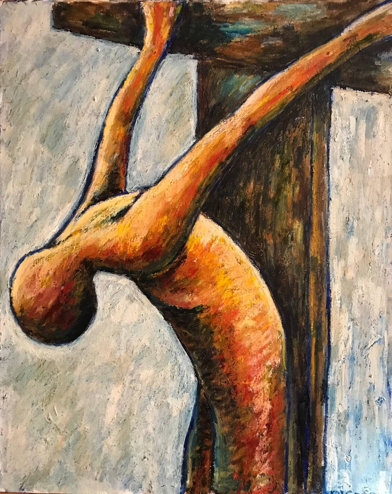 Kate Orr Figurative Painting - Surrealist Crucifixion