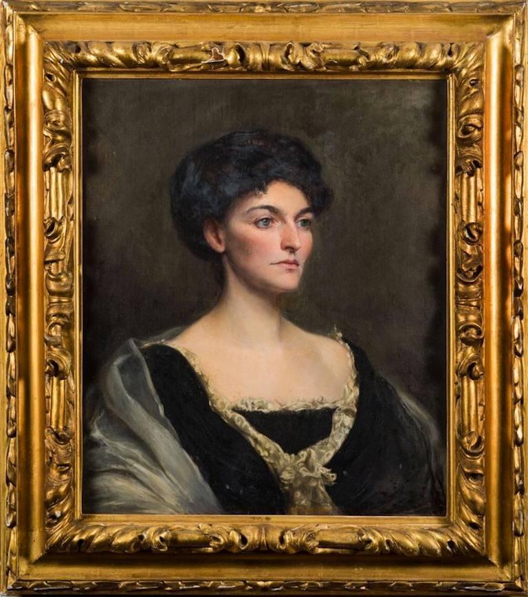 Stuart G. Davis Portrait Painting - Portrait of a Lady