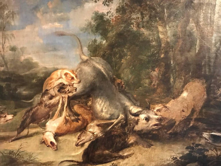 17th Century Flemish Old Master oil painting on canvas