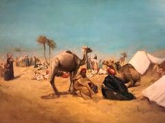 Orientalist Travellers & Camels Desert Camp