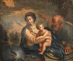 17th Century Italian Oil Painting - The Holy Family