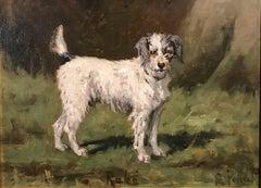 Rake - Jack Russell Terrier, signed oil painting