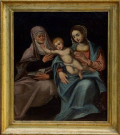 The Madonna & Child with St. Anna, oil painting on canvas