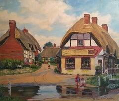 The English Village, Kings Somborne, Hampshire - Oil Painting