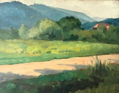 1930's French Provencal Countryside Oil Painting - Double Sided work