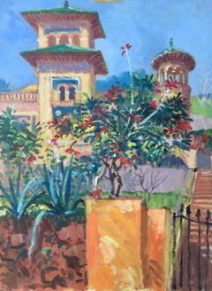 House at Torremolinos, Spain, Impressionist Oil Painting