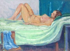 The Reclining Nude, British Impressionist Oil - Amazing Colours