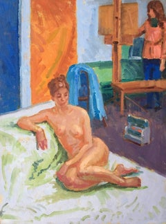 The Artists Model, Nude Impressionist Oil Painting