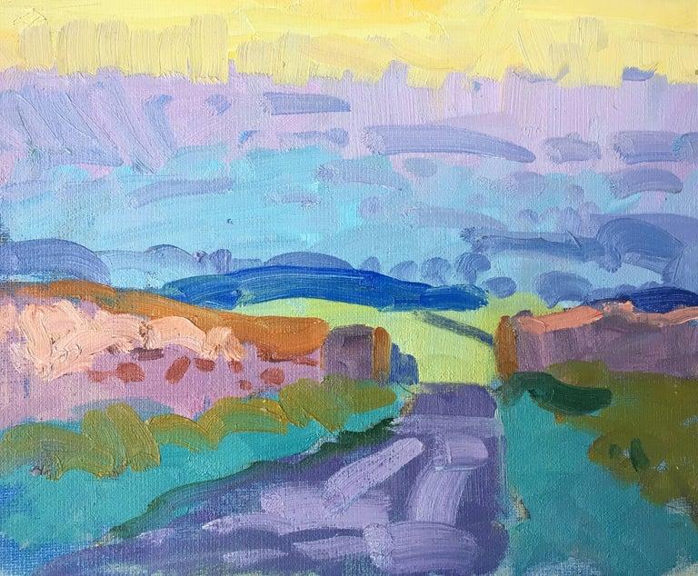 J.B. Holmes Landscape Painting - Post-Impressionist Landscape, Oil Painting,  British Artist - J.B. Holmes - Post-Impressionist Landscape, Oil Painting, British