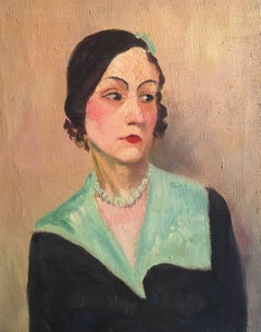 Fine French Impressionist 1930's Oil Painting - Portrait
