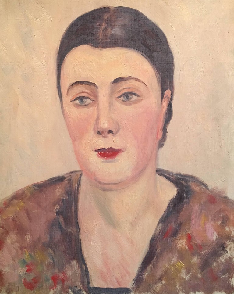 Portrait of a Lady, French Impressionist 1930's Oil Painting
