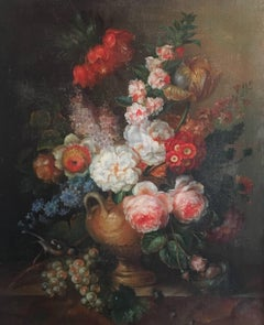 Classical Still Life Floral Display Oil Painting - Large Size