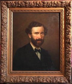 Portrait of an Artist, large 19th century oil painting
